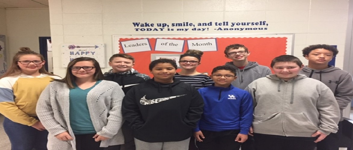 9 students who were chosen as leaders of the month for november